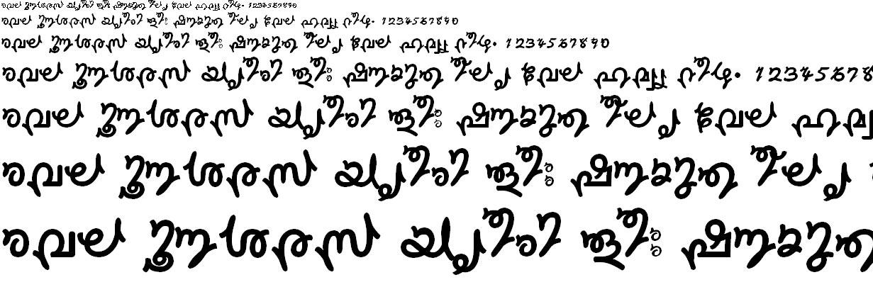 FML-TT-Sruthy Malayalam Font
