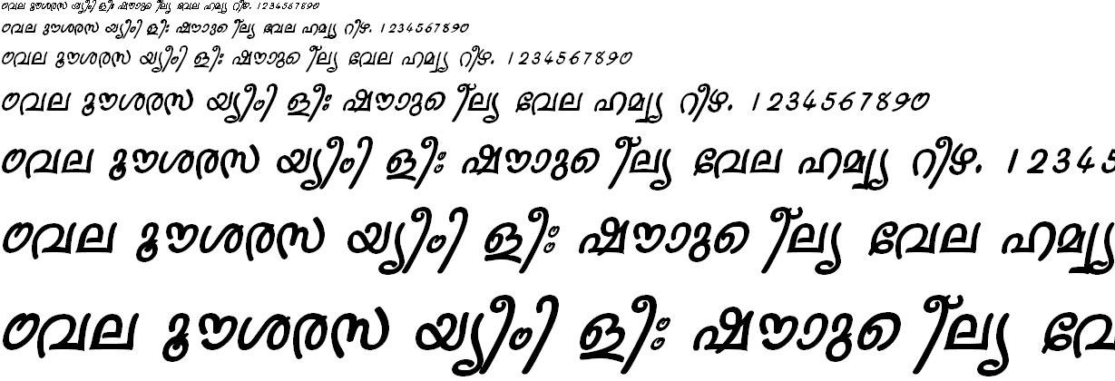 FML-TT-Sruthy Bold Italic Malayalam Font