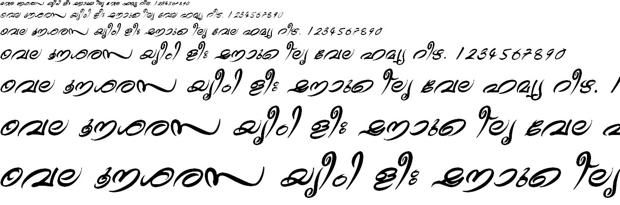 FML-TT-Theyyam Bold Italic Malayalam Font