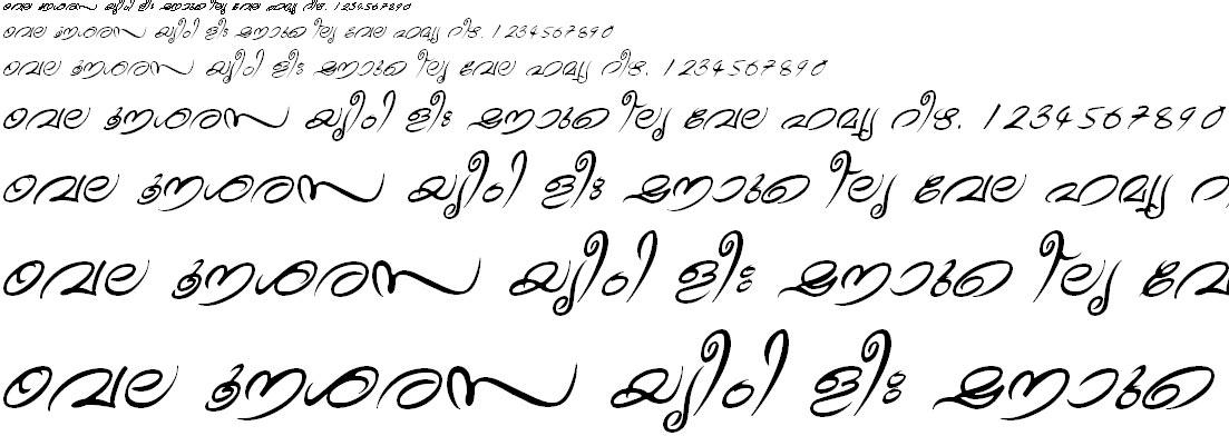FML-TT-Theyyam Italic Malayalam Font