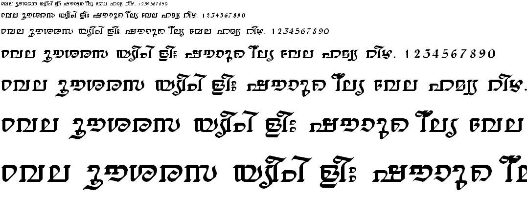 FML-TT-Thiruvathira Malayalam Font