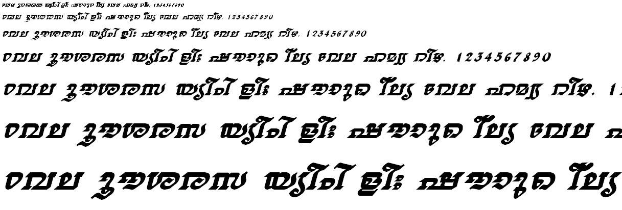 FML-TT-Thiruvathira Bold Italic Malayalam Font