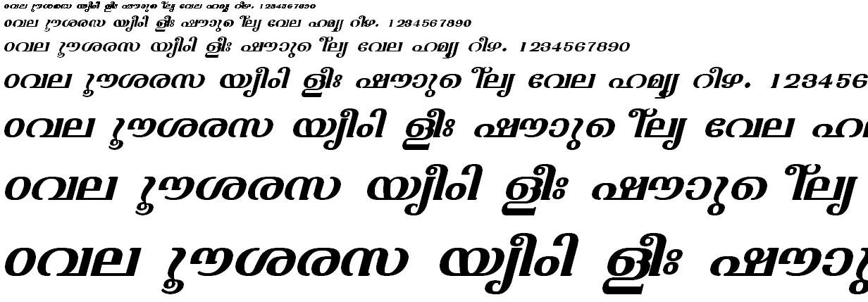 FML-TT-Varsha Bold Italic Malayalam Font