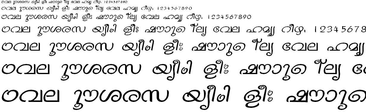 FML-TTVinay Malayalam Font