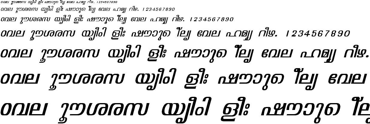 FML-TT-Visakham Italic Malayalam Font
