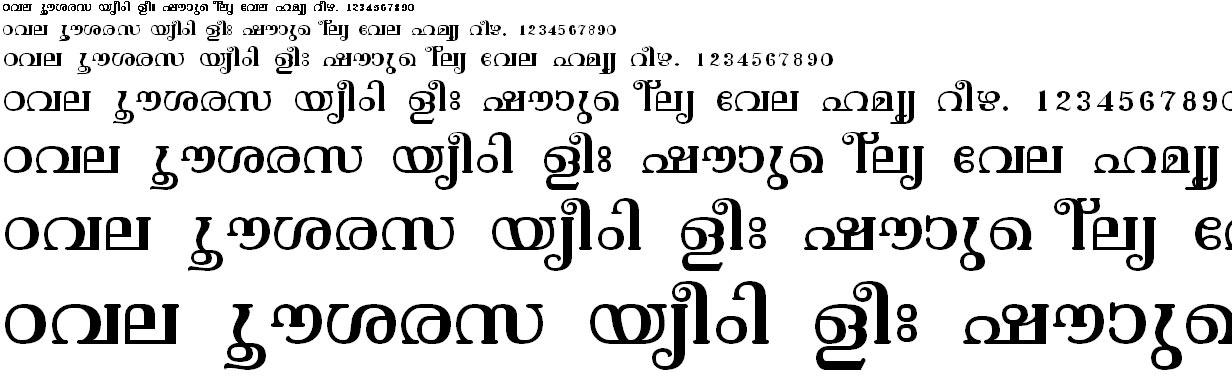 FML-TT-Vishu Malayalam Font