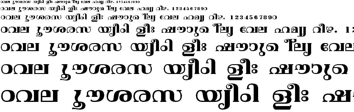 FML-TT-Vishu Bold Malayalam Font