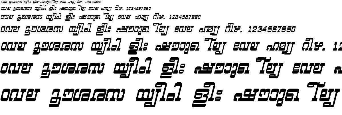 FML-TT-Yashasri Bold Italic Malayalam Font